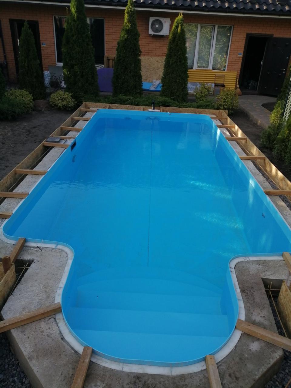 Полипропиленовый бассейн от производителя - 6,0 x 3,0 x 1,5 м ПОД КЛЮЧ!