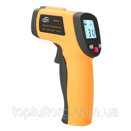 Бесконтактный инфракрасный термометр (пирометр)  -50-450°C, 12:1, EMS=0,95  BENETECH GM300