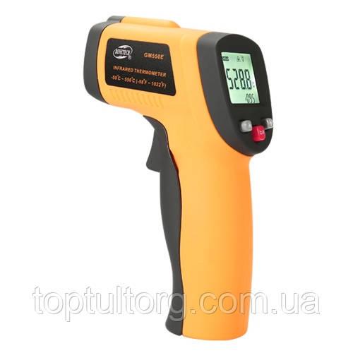 Бесконтактный инфракрасный термометр (пирометр)  -50-550°C, 12:1, EMS=0,1-1  BENETECH GM550E
