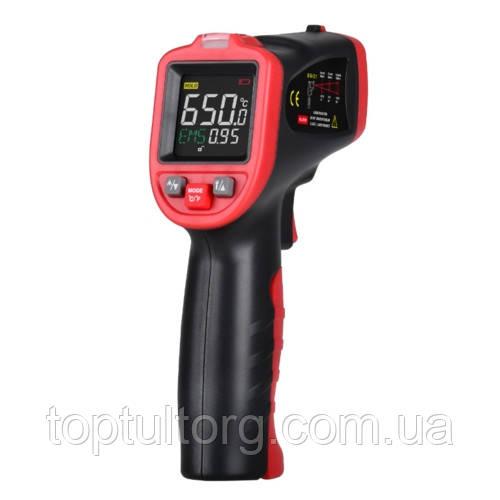 Бесконтактный инфракрасный термометр (пирометр) цв дисплей, -50-650°C, 12:1, EMS=0,1-1  WINTACT WT323A