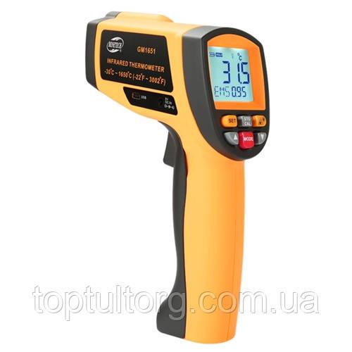 Бесконтактный инфракрасный термометр (пирометр), USB  -30-1650°C, 50:1, EMS=0,1-1  BENETECH GM1651