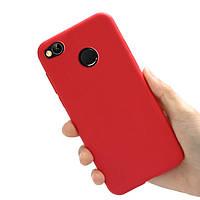 Чехол Style для Xiaomi Redmi 4X / 4X Pro Бампер силиконовый красный