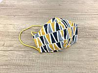 Маска для лица, Серо-желтые треугольники