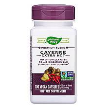 "Кайенский перец жгучий Nature's Way ""Cayenne Extra Hot"" 450 мг (100 капсул)"
