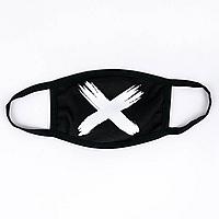 Защитная маска MSD OFF x black  многоразовая двухслойная Черный (5824)