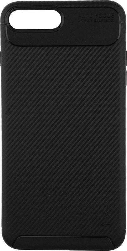 Чохол-накладка Ipaky Carbon Fiber Series/Soft TPU Case Apple iPhone 7 Plus/8 Plus Brown #I/S
