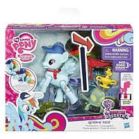 Детский Игровой Набор Для Девочек Радуга Дэш с артикуляцией и предметами Rainbow Dash My little Pony Hasbro