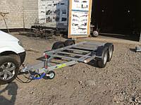 Прицеп для генератора с подвеской из танкового жгута, без пола.