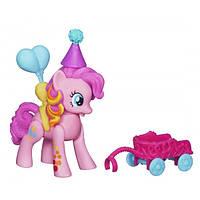Детский Игрушка-Фигурка Для Девочек Пинки Пай Летающие Пони с розовой тележкой My little Pony Hasbro Хасбро