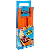 Детский Игровой набор Хот Вилс Конструктор Трасс Трек и Автомобиль 18 частей и соеденителей Hot Wheels Mattel