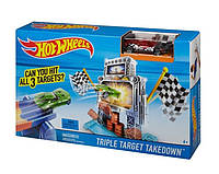 Детский Игровой Набор Хот Вилс Гоночная Трасса Трек Тройная мишень Triple Target Takedown Hot Wheels Mattel
