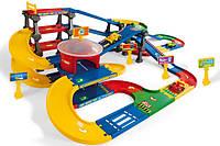 Детский Игровой Набор Двухуровневая Парковка, Вариативный Трек, Гараж, 3 Машинки, система click-click Wader
