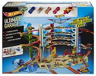 Детский Игровой Набор Хот Вилс Трек Легендарный гараж с вертолетом и подъемником на 36 мест Hot Wheels Mattel