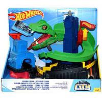 Детский Игровой Набор Хот Вилс Гоночная Трасса Трек Укус Кобры с рычагом и одной машинкой Hot Wheels Mattel