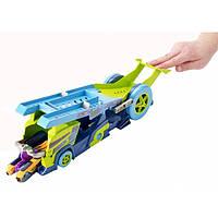 Детская Игрушка Хот Вилс Грузовик-пускатель Молниеносные половинки вмещает до 4 машинок Hot Wheels Mattel
