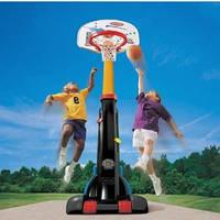 Детский Игровой Спортивный Набор Раздвижной Баскетбольный Щит 150-210см на колесах с легким мячом Little Tikes