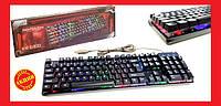 🎁 Клавиатура с яркой светодиодной подсветкой. Клавиатура KEYBOARD KR-6300 с подсветкой | AG470108