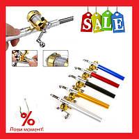 Складная походная мини-удочка Fishing Rod In Pen Case. Удочка-ручка Fish-Pen | AG470250