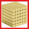 🎁 Неокуб магнитный конструктор головоломка. Квадратный Neocube 216 кубиков 5мм в металлическом боксе (Золотой) | AG470268 - Фото