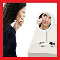 🎁 Make-Up зеркало, макияжное зеркало. Зеркало со светодиодной подсветкой. Зеркало с LED подсветкой круглое   AG470302