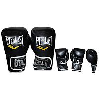 Перчатки боксерские PU ELAST BO-3987-BK (р-р 8-12oz, синий)