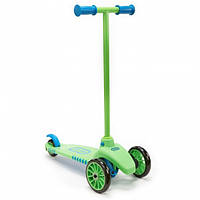 Детский Складной Трехколесный Самокат с силиконовыми колесами, зеленый, Lean to Turn Little Tikes Литтл Тайкс