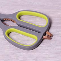 Ножницы кухонные 21.5см из нержавеющей стали с пластиковыми ручками и орехоколом 5183, фото 2