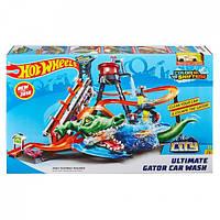 Детский Игровой Трек для машинок Хот Вилс Невообразимая автомойка с машинкой измени цвет Hot Wheels Mattel