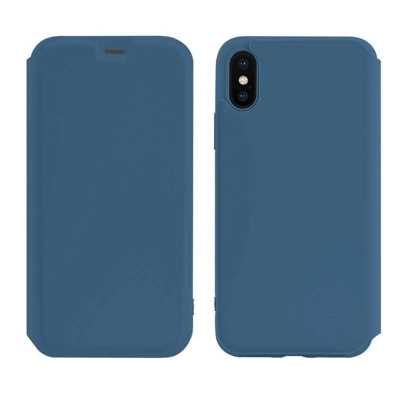 Чехол-книжка Hoco Colorful series liquid silicone для Apple iPhone X/XS Blue