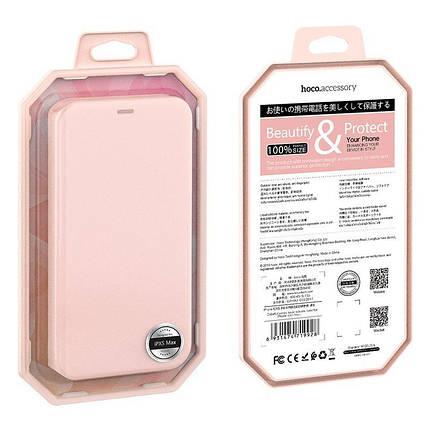 Чехол-книжка Hoco Colorful series liquid silicone для Apple iPhone XS Max Pink, фото 2