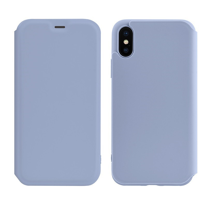 Чохол-книжка Hoco Colorful series liquid silicone для Apple iPhone XS Max Purple