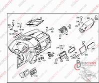 Подушка безопасности пассажирская (AirBag) Mercedes Vito W639 (2003-2014) A6398600102