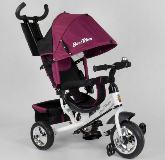 Велосипед трехколесный детский с родительской ручкой капюшоном колеса пена Best Trike 6588-18-595