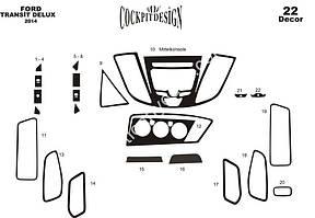 Накладки на панель Ford Transit 2014↗ гг. / Накладки на панель Форд Транзит