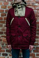 Парка\куртка Outfits - LHM Burgundy/Tan (мужская) Весна-Осінь