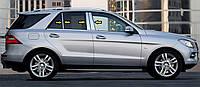 Молдинг дверных стоек (6 шт, нерж) Mercedes GLE/ML klass W166 / Накладки на двери Мерседес Бенц GLE/ML klass W166