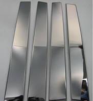 Молдинг дверных стоек (нерж.) Renault Duster 2018↗ гг. / Накладки на двери Рено Дастер