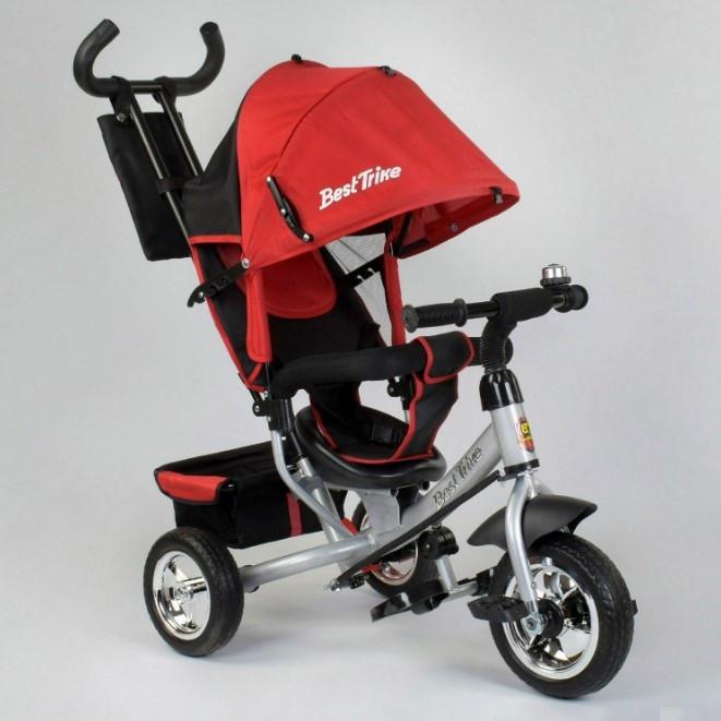 Велосипед трехколесный детский с родительской ручкой капюшоном колеса пена Best Trike 6588-14-647