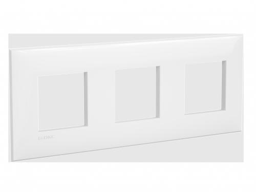 Рамка ARTLEBEDEV, Avanti, Белое облако, 6 модулей, ДКС [4400906]