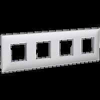 Рамка ARTLEBEDEV, Avanti, Закаленная сталь, 8 модуля, ДКС [4404908], фото 1