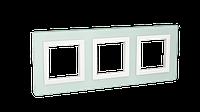 Рамка из натурального стекла, Avanti, светло-зеленая, 6 модулей, ДКС [4406826]