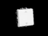 Выключатель двухполюсный одноклавишный модульный, Avanti, Белое облако, 2 модуля, ДКС [4400222]