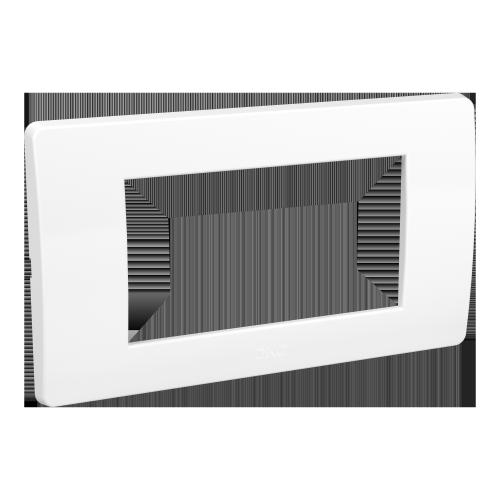 Рамка на 4 модуля, белая, RAL9010, ДКС [75011W]