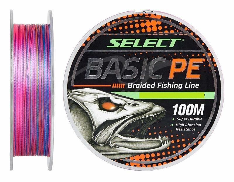 Шнур Select Basic PE 100m (разноцв.) 0,20мм 28LB/12,7kg