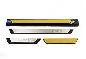 Mercedes S-klass W140 Накладки на пороги (4 шт) Sport / Накладки на пороги Мерседес Бенц S-klass W140