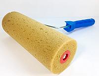 Валик с ручкой структурный поролоновый мелкая текстура 250х80мм для краски и шпаклевки