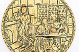 Старе латунне настінне панно, ручна робота, латунь, Англія, трактир, фото 3