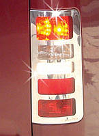 Тюнинг на задние фонари Ford Connect нержавейка Омса / Накладки на фонари Форд Транзит Коннект