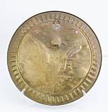 Старовинна настінна латунна тарілка, латунь, ручна робота, Індія, фото 5