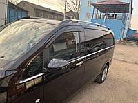 Mercedes Vito W447 Молдинги стекол на длинную базу (8 полосок) / Накладки на двери Мерседес Бенц Вито / V W447